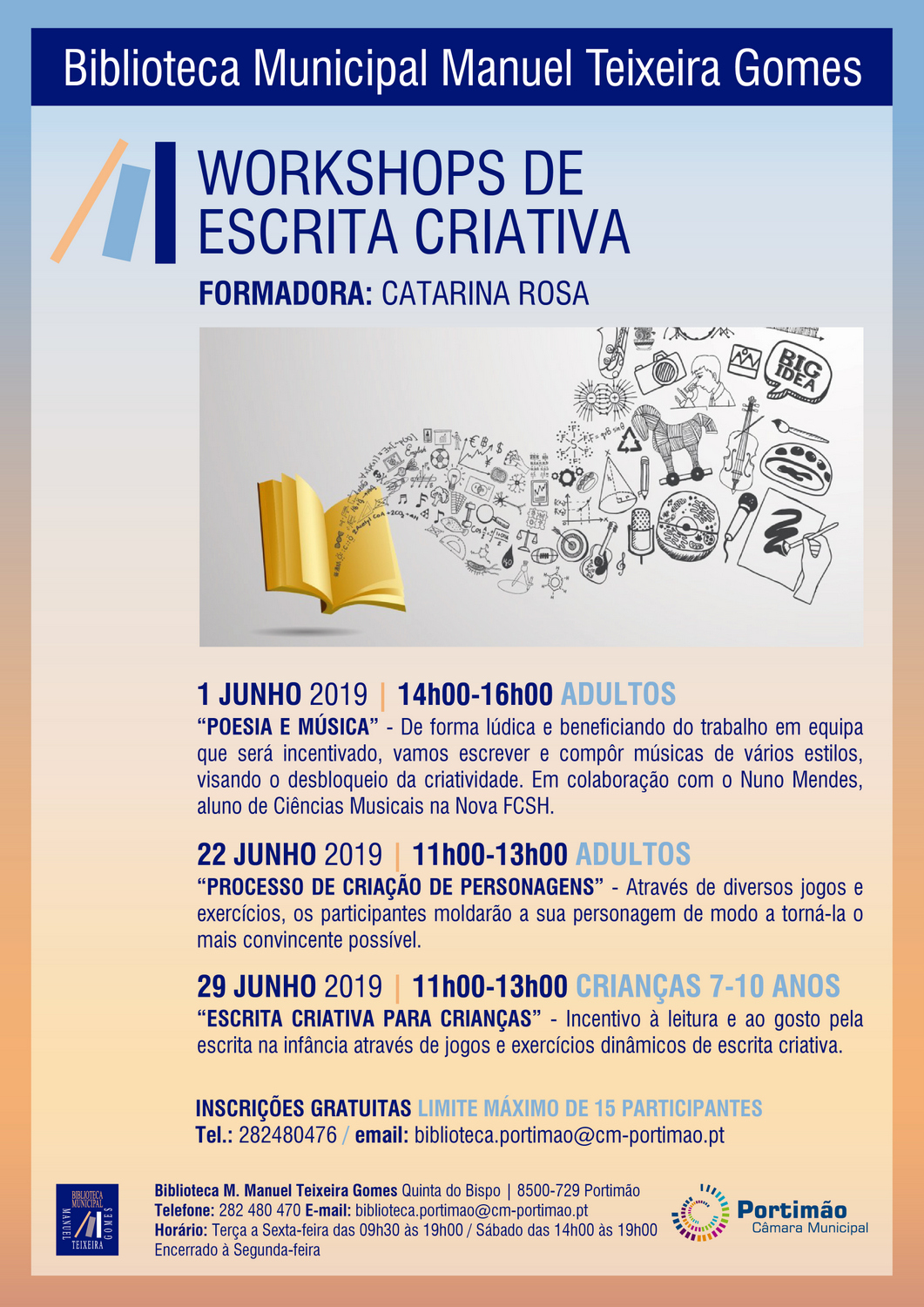 Workshops de Escrita Criativa por Catarina Rosa