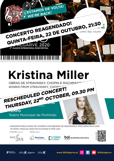 NOVA DATA / Kristina Miller | 4.º Festival Internacional de Piano do Algarve